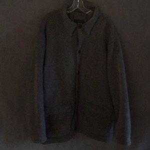 J. Crew XL fleece jacket gray fleece J Crew